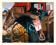 The coveted #1 at the 1987 NFR, Charmayne James and Scamper.