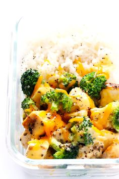 This Cheesy Broccoli, Chicken and Rice Bowls recipe is easy to make for lunch meal prep or weeknight dinners, it is tossed with a lightened-up cheddar cheese sauce, and it's totally comforting and delicious!  (This post contains affiliate links.) Happy Monday, guys! First off, I just wanted to say thanks for sticking with me through all of last …