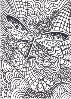 difficult butterfly the gallery coloring pages for adults - Coloring Pages Difficult Abstract