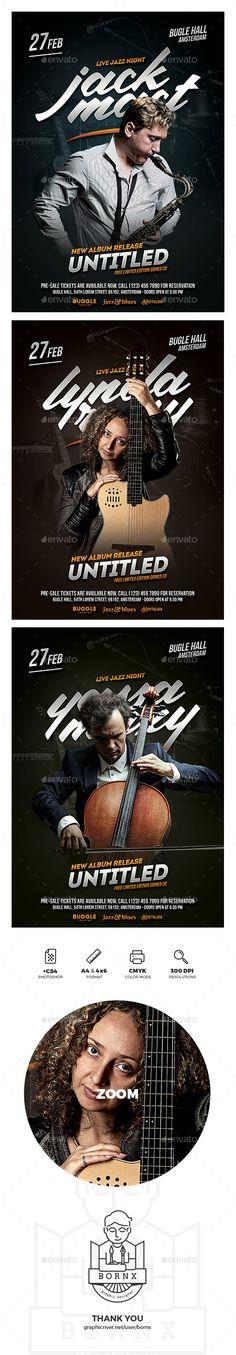 Jazz Musician Flyer Template PSD