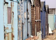 Beach hut - all different blues