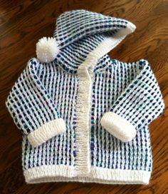 Baby Hooded Cardigan  Spring Morning by CreatedByLadybug on Etsy