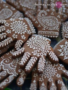 Some of my edible artistry - henna cookies! | Flickr - Photo Sharing!