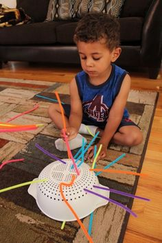 Preschool Activities Fine Motor Skills with Pipe Cleaners