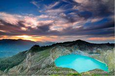 Kelimutu Volcano of Indonesia