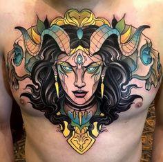 Tattoo Neo traditional tattoo by Juan David Rendón Tattoos 3d, Skull Rose Tattoos, Hand Tattoos, Tattoo Ink, Traditional Tattoo Old School, Traditional Tattoo Flash, Chest Piece Tattoos, Medusa Tattoo, Tattoo Portfolio
