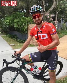 Peter Sagan preparing for his first race of 2017 TDU in Adelaide