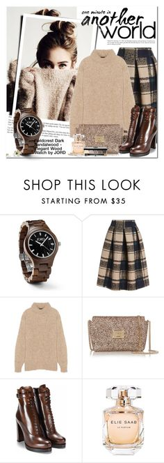 """""""Fieldcrest Series Dark Sandalwood Watch by JORD"""" by oshint ❤ liked on Polyvore featuring Fieldcrest, TIBI, Jimmy Choo, Elie Saab, Bobbi Brown Cosmetics, watches, coolwatch, jord and woodwatches"""