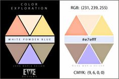 """Eva Maria Keiser Designs: Explore Color:  """"White Powder Blue"""""""