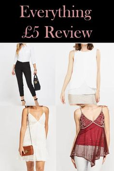 Everything £5 is a SUPER cheap discount store for high street fashion. If you're looking for affordable clothing, check it out!