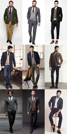 Men's Autumn/Winter Essential Fabrics: Wool in The Merino Wool Cardigan Lookbook Inspiration
