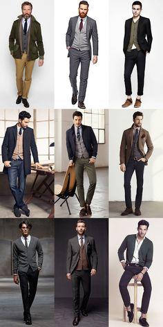 Men's Autumn/Winter Essential Fabrics: Wool in The Merino Wool Cardigan Lookbook Inspiration