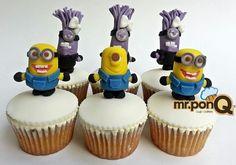 Mr.ponQ cup-cakes. Minions