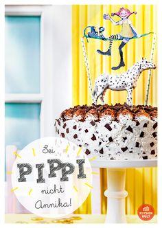 Kindergeburtstag Pippi Langstrumpf Torte