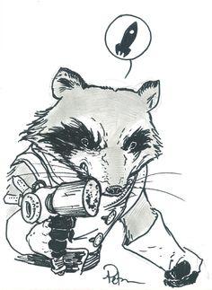 Rocket Raccoon David Petersen Comic Art