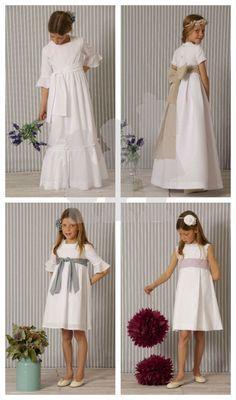 a Gatas 3 marca agua Little Fashion, Cute Fashion, Kids Fashion, Little Dresses, Girls Dresses, Flower Girl Dresses, Dress Anak, Girl Thinking, Baptism Dress