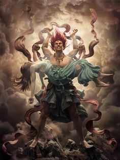 Asuras Wrath by Qi Sheng Luo Hindu Shiva, Shiva Parvati Images, Shiva Shakti, Hindu Art, Hanuman Images, Krishna, Lorde Shiva, Zbrush, Angry Lord Shiva