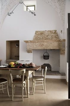 luca zanaroli architects · A historic home renovation in Patù Rustic Italian, Italian Home, Interior Styling, Interior Design, Italy House, Stone Houses, Fireplace Design, Rustic Interiors, Outdoor Rooms