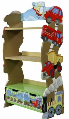 A great transport themed bookcase with a drawer for your little ones bedroom or playroom. Time to keep those books and toys tidy!