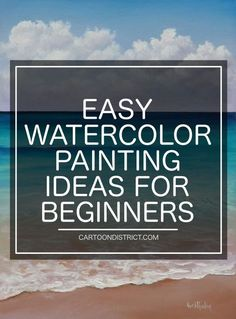 100 Easy Watercolor Painting Ideas for Beginners is part of braids - These easy Watercolor painting ideas for beginners will help you get started! The beauty of Watercolors is one that cannot be denied or ignored You've got Watercolor Beginner, Watercolor Paintings For Beginners, Watercolor Tips, Watercolor Projects, Beginner Painting, Watercolour Tutorials, Watercolor Techniques, Watercolour Painting, Art Techniques