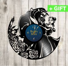 Beauty and the Beast clock Beauty and the Beast by SInteriorsShop