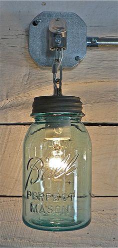 mason jar - lamp - design - decor