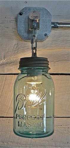 mason jar - lamp - design - decor