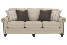 Milari Linen Queen Sofa Sleeper For the playroom, option could pop with really fun pillows only $595