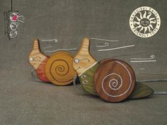 Waldorf inspired, eco-friendly pulling wooden toy