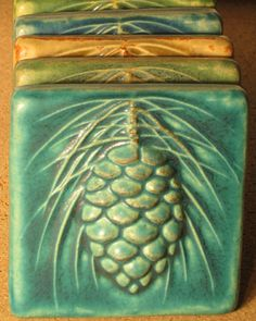 Our Secret Sources for Uniquely Inspired Home and Craft Goods Pewabic Tile. >>Pewabic Pottery is a studio and school at 10125 East Jefferson Avenue, Detroit, Michigan. Founded in the studio is known for its iridescent glazes Arts And Crafts For Teens, Art And Craft Videos, Arts And Crafts House, Arts And Crafts Projects, Arts And Crafts Interiors, Clay Crafts, Azulejos Art Nouveau, Art Nouveau Tiles, Art Deco