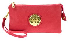 Women's Styles Wristlets Canal Collection Soft PVC Leather Wristlet With Emblem (Cora...