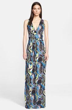 Etro Paisley Print Jersey Maxi Dress available at #Nordstrom