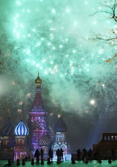 The new year is marked in Moscow's Red Square