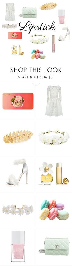 """""""Outfit for Spring"""" by amythystrose ❤ liked on Polyvore featuring Too Faced Cosmetics, Oscar de la Renta, Avigail Adam, Forever 21, Jeffrey Campbell, Marc Jacobs, Humble Chic, The Hand & Foot Spa, Chanel and By Terry"""