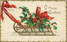 Antique Edwardian A Merry Christmas Postcard Featuring