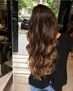 Pocahontas Ombrè: Ombre Hair ombre tape in hair extensions Brown Ombre Hair, Brown Hair Balayage, Brown Blonde Hair, Ombre Hair Color, Brunette Hair, Hair Highlights, Golden Blonde, Golden Hair, Dark Ombre