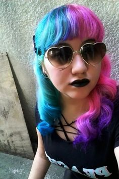 103 Best Split Hair Dye Images Colorful Hair Haircolor Colors
