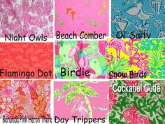 Lilly Pulitzer Line IDs - Butterfly/ Bird/ Bug Prints