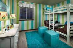 loft beds for girls | cool loft bed set up with dinette below Outfitting Your Kids' Room ...