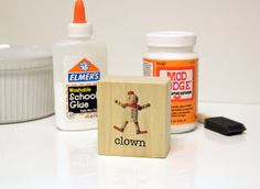 The easiest way ever to transfer an inkjet image to wood.  All you need is cardstock, elmer's glue, and mod podge.