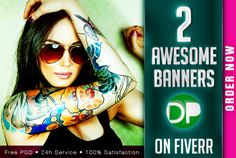 design 2 awesome web banners, headers, ads in 24 hrs by design_palace
