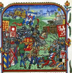 Burgundian Troops fighting off a skirmish of the Imperial army at the siege of Neuss in June 1475