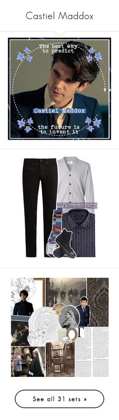 """""""Castiel Maddox"""" by my-heart-is-art ❤ liked on Polyvore featuring art, KURO, Lorenzo Uomo, Double TWO, Converse, men's fashion, menswear, country, wibblywobbly and hamiltrash"""