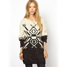 [grxjy560666]Leisure Contract Color Snowflake Pattern Long Pullover Sweater