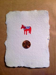 A Mini-Mini!! Red Dala Horse, Liz Carlson Arts and Illustration, 2015