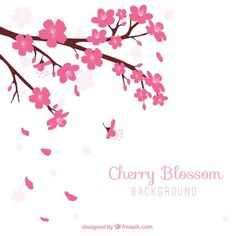 Spring Tree Vectors, Photos and PSD files Cherry Blossom Background, Happy New Year 2014, Japanese Packaging, Cherry Blossom Wedding, Spring Tree, Vector Free, Illustration, Pretty, Floral