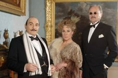 Agatha Christie's Poirot, Madame Oliver and Sir Roderick Horsfield (Peter Bowles) 2008 in 'Third Girl'.
