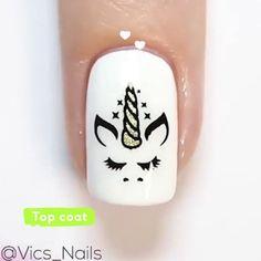 Animal Nail Designs, Girls Nail Designs, Unicorn Nails Designs, Green Nail Designs, Animal Nail Art, Nail Art Designs, Minimalist Nails, Panda Nail Art, Multicolored Nails