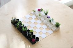 Check out the THIRTY TWO colors in the last picture!  3D Printed Mini Chess Planter.  *Plants are not included.  If you are looking for something to