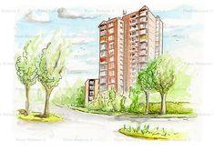 Dit complex staat op de hoek Onze Lieve Vrouwestraat en de Montgommerylaan. Architect was Jan Luiten.